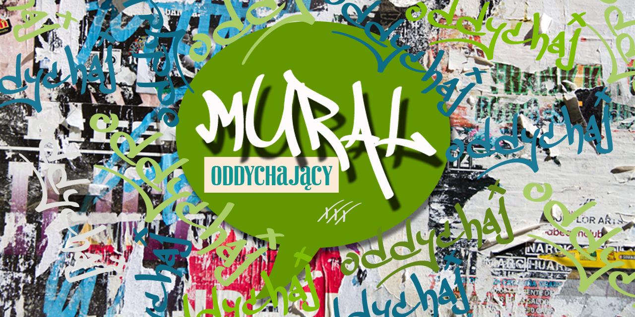 Oddychający mural w centrum Krakowa.