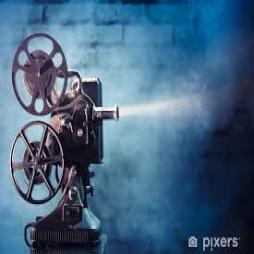 Niebieski projektor
